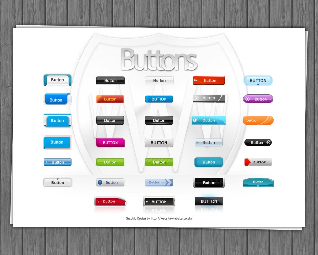 Set of free shiny buttons for your design