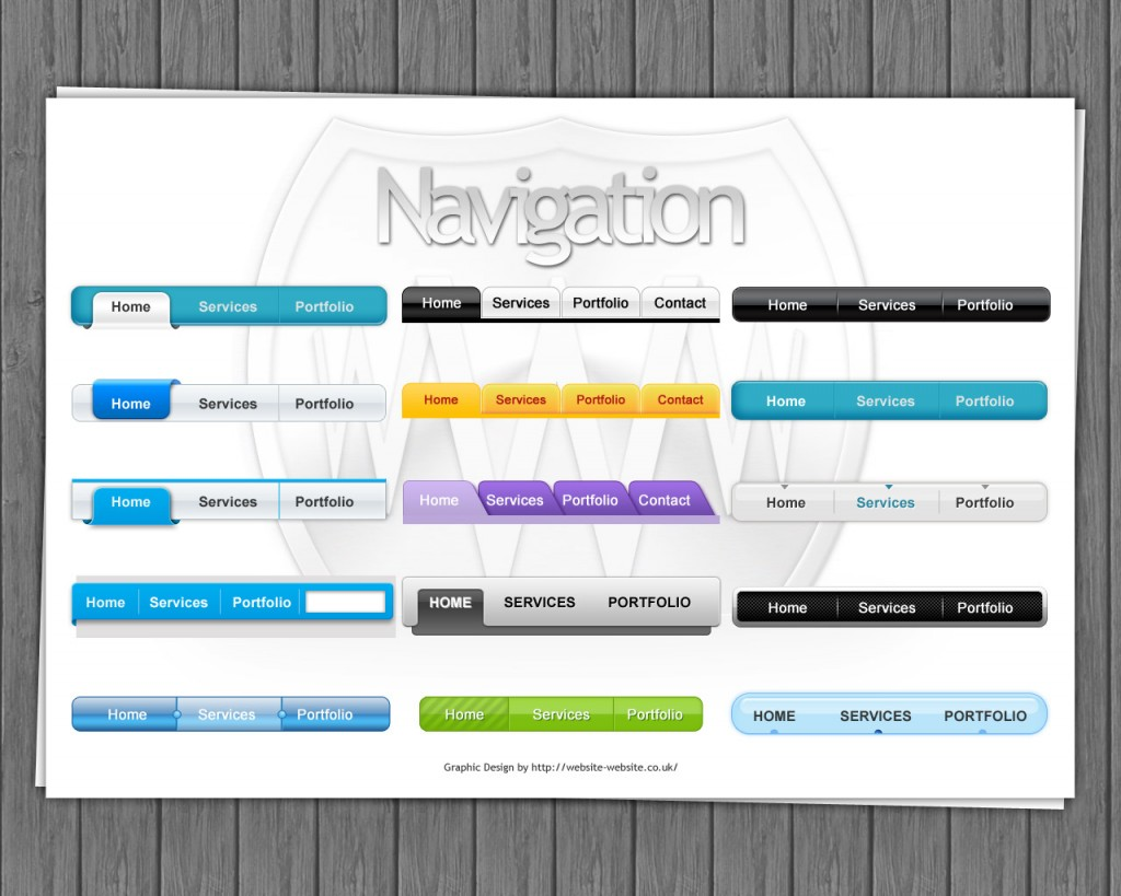 Navigation bars by Website-Website