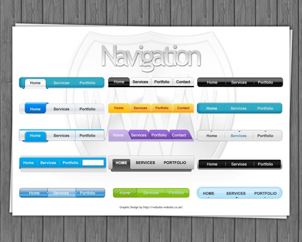 Navigation bars by Website-Website